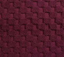 Luxurious linenHall, 850gsm 100% Cotton Reversible Bath Mat in Plum